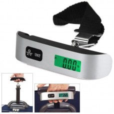 T Electronic Scales Belt Luggage Scale Thermometer Balance 50kg/10g