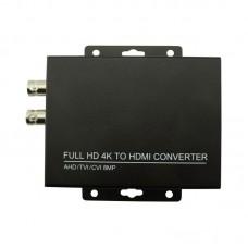 HD 4K Converter CVI/TVI/AHD+CVBS to HDMI Support 8MP AHD + CVBS to HDMI Test 1080P HDC/A
