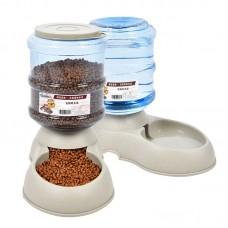 Automatic Dispenser Pet Supplies Dog Water Feeder Food Feeding Bowls 3.75L