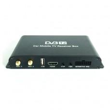 Mobile Car DVB-T2 Digital TV Receiver H.264 Real 4 Chip 160-180km/h