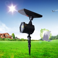 Solar Power LED Laser Projector Lawn Outdoor Removing Stage Light Lamp Outdoor Decor