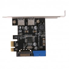 U3V14S 2 Port USB 3.0 Card PCI-e to Internal Ports Adapter PCI-E 5.0Gbps Add On Card
