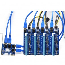 PCI-E 1 to 4Ports PCI Express 16X Slot Power Expansion Riser Card Adapter Board