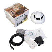 Wireless UFO P2P IP Camera Wifi Spy Smoke Detector Motion Detect DVR Camcorder