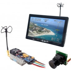 5.8GHz FPV System Camera Monitor 1000mW 1W Video Transmitter Quadcopter Drone
