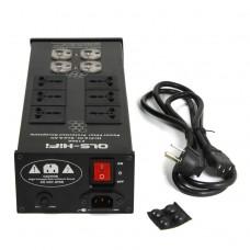 QLS-HiFi F1000 Mains Audio Power Purifier Filter AC Power Socket for Hifi Amplifier