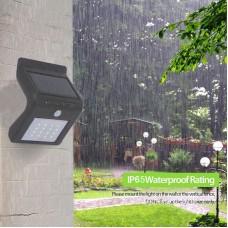 18001 16-LED Solar Power Body Induction Lamp Light Wireless Sensor Home Bright