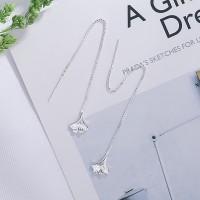 Elegant Ginkgo Leaf Earrings Long Tassel Drop Line Earrings Jewelry Gift Women Girl