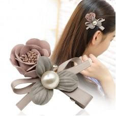 Fashion Flower Pearl Hairpin Fish Hair Clip Fringe Headwear for Beauty Decoration