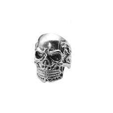 Men's Vintage Punk Gothic Skull Heads Ring Biker Band Rock Rings Jewelry
