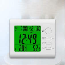 Multi function Alarm Clock Temperature Thermometer Humidity Hygrometer Snooze Calendar