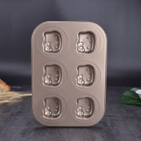 6 Hello Kitty Carbon Steel Mold Chocolate Cake Pan Birthday Baking Mould