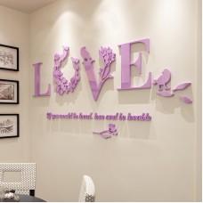 Stylish Removable 3D Leaf LOVE Wall Sticker Art Vinyl Decals Bedroom Decor