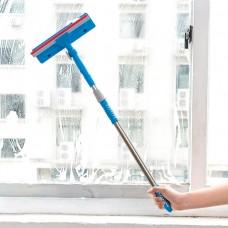 Telescopic Window Squeegee Cleaner Sponge Brush Shower Windows Car Wiper Sponge