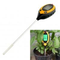Durable 4 In 1 LCD Moisture Temperature Sunlight PH Garden Soil Tester Meter