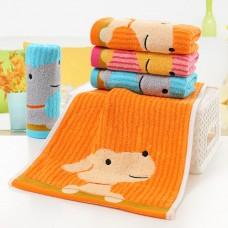 Kids Baby Cute Cartoon Puppy Cotton Jacquard Pattern Wash Face Towel Tool 50x25cm