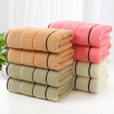 Cotton Towel Stripe Face Hand Bath Cloth Sheet Bathroom Absorbent Home 74x34cm