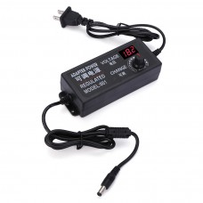 9-24V 3A Speed Control Voltage AC/DC Adjustable Power Adapter Supply Display
