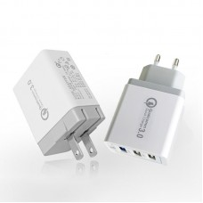 QC3.0 3USB Adapter Quick Charger Multi Ports 9V/12V Smartphone Charger 2.4A