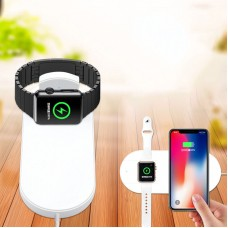 7.5W 2 in 1 Multi-function Qi Wireless Quick Charger for iPhoneX 8 Plus and iWatch