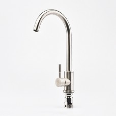 Pull Down Kitchen Sink Wash Basin Cold Water Faucet Mixer Tap Single Handle Stainlesss Steel