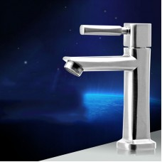 Wash Basin Cold Water Faucet Single Handel Sink Basin Tap Pull Up
