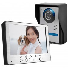 "HD 7"" TFT Color Video Door Phone Intercom Doorbell Home Security Camera Monitor Night Vision System"