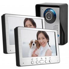 "HD 7"" TFT Color Video Door Phone Intercom Doorbell Home Security Camera 2 Monitor Night Vision System"