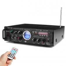 TAV-339B 220V 600W Bluetooth Karaoke Stereo Power Amplifier VU Meter FM 2 Channel USB SD