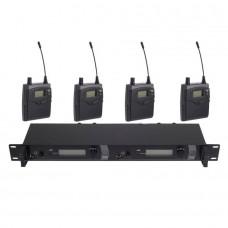 SR2050 IEM 2 Channels Transmitter Wireless In Ear Stage Monitor System 4 Receiver