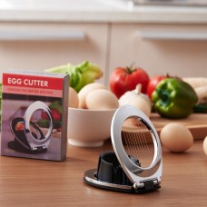 Egg Slicer 2-in-1 Compact Hard Boiled Egg Cutter Splitter Wedger Kitchen Tool