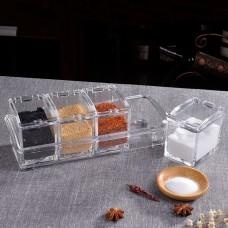 Seasoning Box Separable Spice Rack Seasoning Jars Acrylic Crystal Spice Transparent