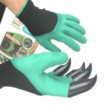 Garden GENIE Gloves for Digging Planting With 4 ABS Plastic Claws Gardening