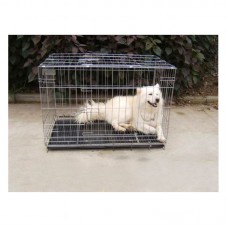 100X60X70mm Pet Kennel Cat Dog Folding Crate Wire Metal Cage W/Divider