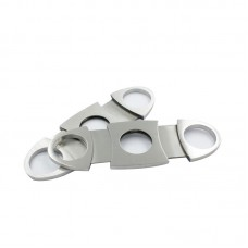 Stainless Steel Pocket Cigar Cutter Knife Double Blades Scissors Shears