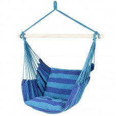 Hammock Hanging Rope Chair Porch Swing Seat Patio Camping Stripe Portable