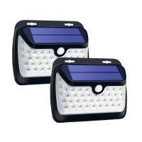 42 LED Solar Light PIR Motion Sensor Wall Lamp Light Control Light Outdoor Garden Lamp Waterproof 2PCS