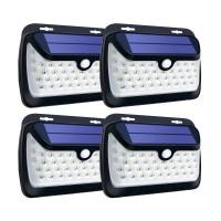 42 LED Solar Light PIR Motion Sensor Wall Lamp Light Control Light Outdoor Garden Lamp Waterproof 4PCS
