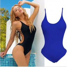 Women One-Piece Swimsuit Bandage Bikini Push-up Padded Backless Bathing Swimwear