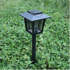 Mosquito Insect Zapper Accent Kill Bugs Killer with Solar LED Garden Light Lamp