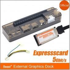 Laptop Independent Card PCI-E Expresscard External Graphics Dock 5Gbit/s