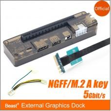 NGFF/M.2 A/E Key External Graphics Dock PCI-E for Computer Win7/10