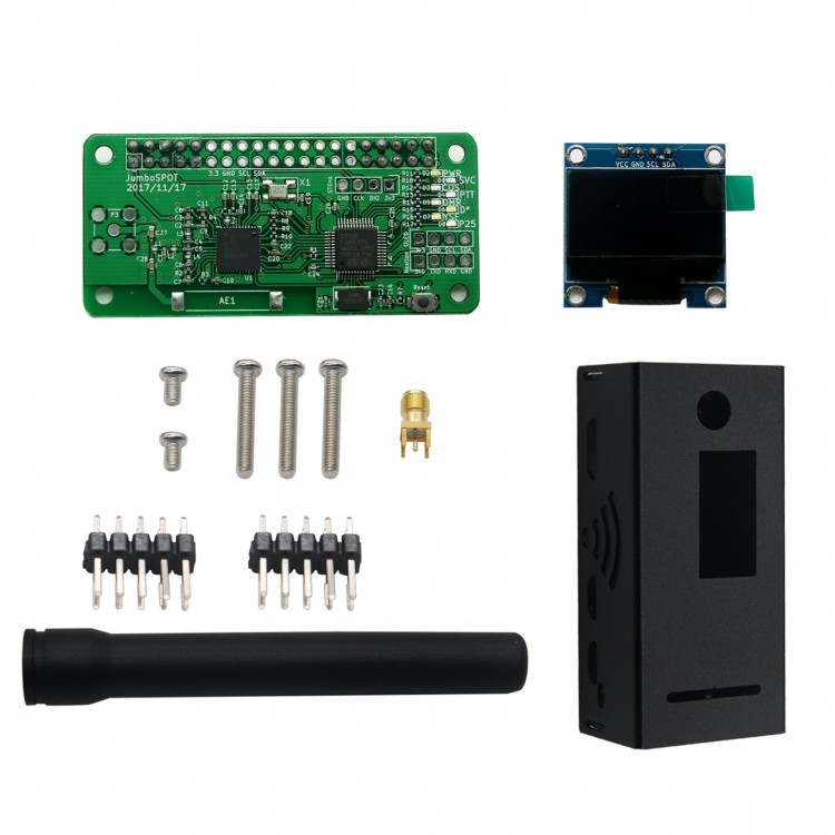 Antenna + Al Case + OLED + MMDVM hotspot Support P25 DMR YSF for