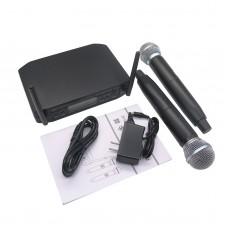 UHF Dual Wireless Microphone System Stage Performances KTV 600-627MHz