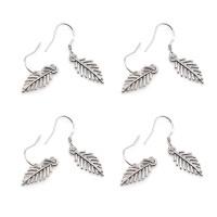 Leaf Long Earrings Dangle Women Eardrop Ear Stud Wedding Party Jewelry
