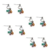 Fashion Heart Shaped Eardrop Platinum Pendant Earrings Ear Stud Party for Women