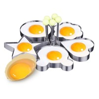 Stainless Steel Pancake Omelette Mould Mold Ring Frying Fried Egg Shaper Kitchen Tool