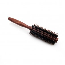 Round Wooden Handle Hairdressing Boar Bristle Curling Hair Comb Brush
