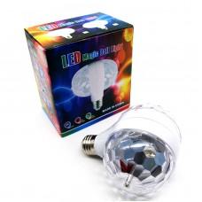 Disco Stage RGB E27 LED Lights Crystal Ball Bulb 2-Head Rotating Party Xmas Lamp