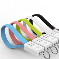 20cm Charger Cable Keychain Key Ring Micro USB/8Pin Data Cord for Android iPhone